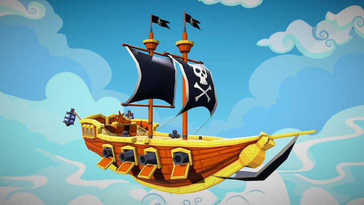 Fruit Golf:Pirate Ship 3D Model