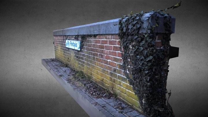 Brick Wall And Ivy Vigne 3D Model