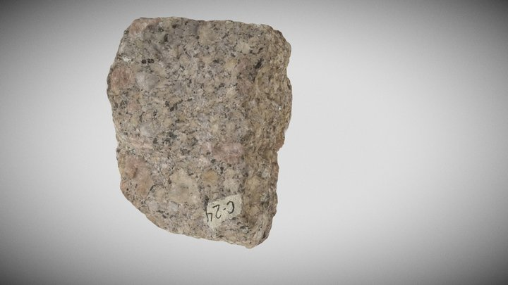 Porphyritic granite 3D Model