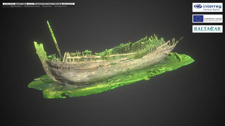 The Jutholmen wreck 3D Model