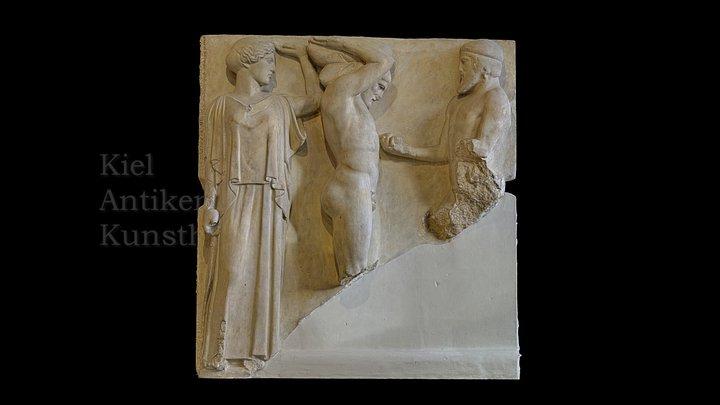 Metope des Zeus-Tempels in Olympia 3D Model