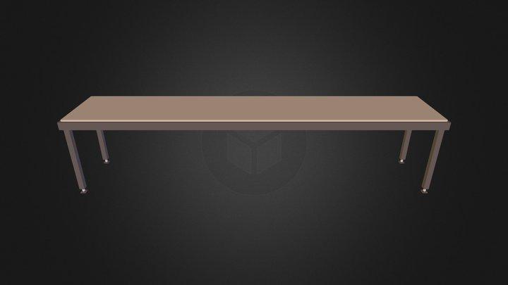 half-bench-empty 3D Model