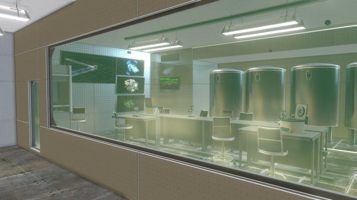 Modern laboratory - modular interiors and props 3D Model