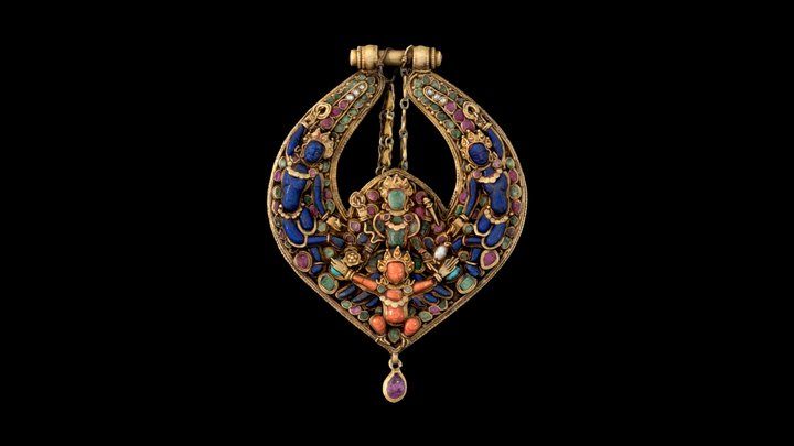 1915.338.2 Deity Earring 3D Model