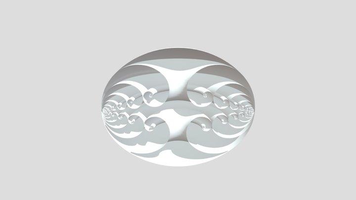 Perfect Egg Half 3D Model
