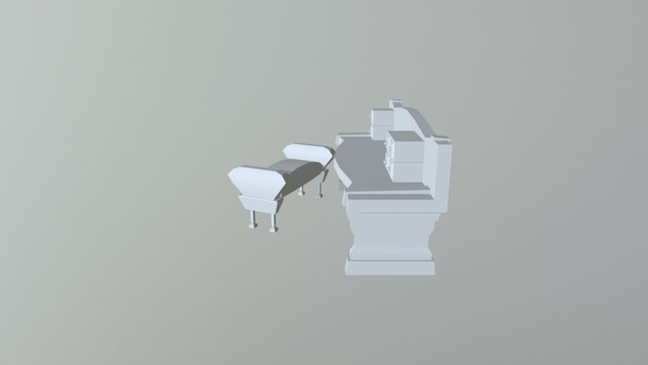 Desk and Seat 3D Model