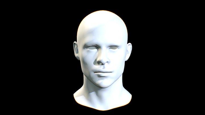 KIRK_STAR TREK_HEAD_MALE_CHRIS PINE 3D Model
