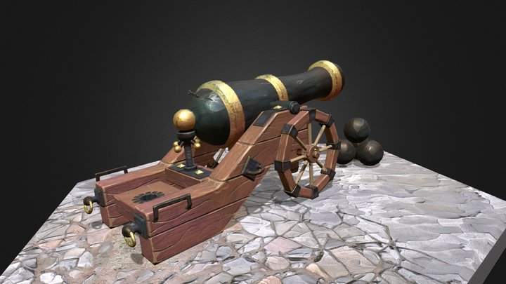 GameReady_Cannon 3D Model