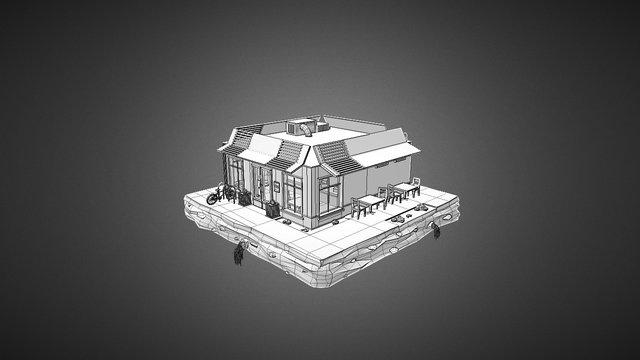 Low Poly Cafe 3D Model