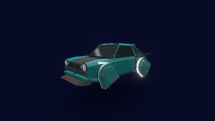Hovering Car 3D Model