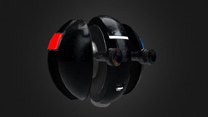 Sci-Fi Police Robot Cop 3D Model