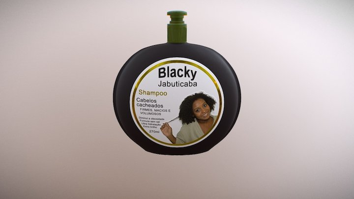shampoo adesivo metálico 3D Model