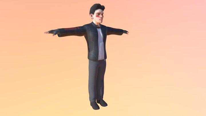 Black Jacket 3D Model