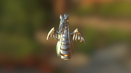 Fantasmic Dragon - Mini Steel Print 3D Model