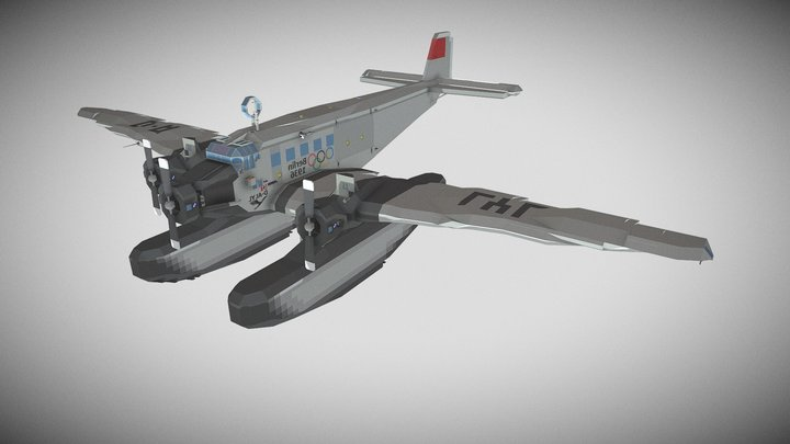 Junkers Ju 52/3m Floatplane - Stormworks 3D Model