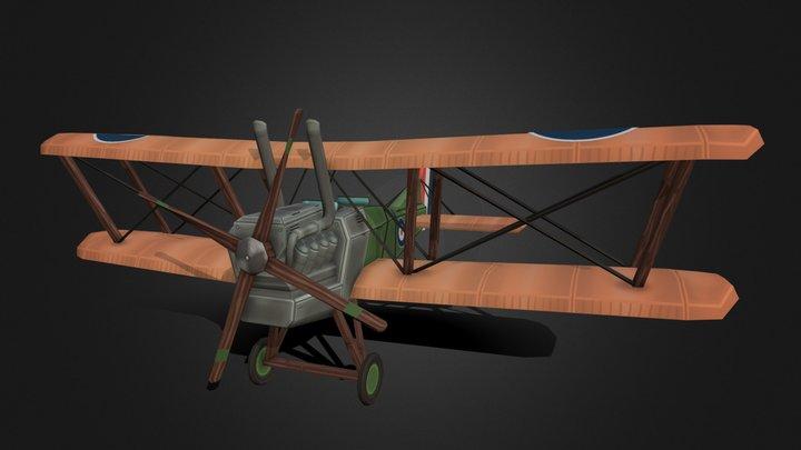 Stylized WW1 Plane - Tom van Asten 3D Model