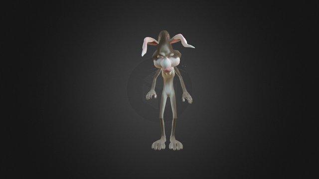 Rabbit Jump Animation Test 3D Model
