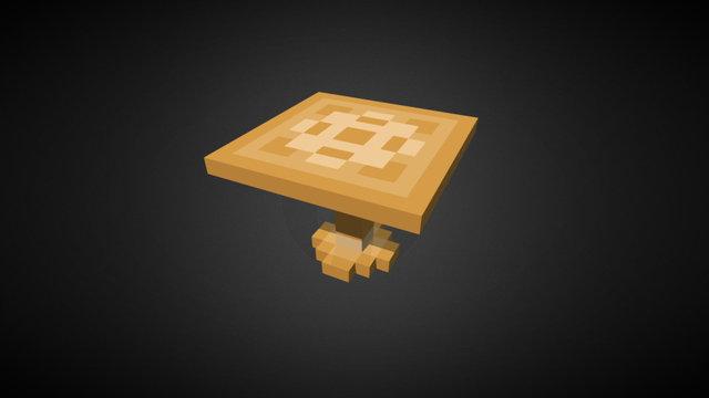 Wooden Voxel Table 3D Model