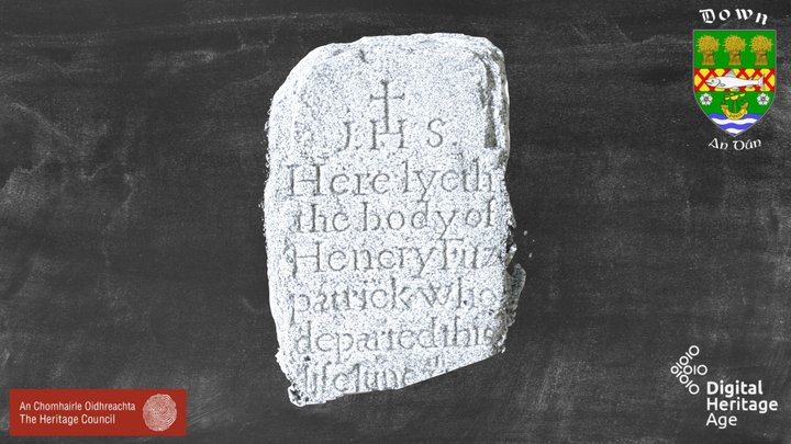 DOW047:042 Cross Inscribed Stone 10 3D Model