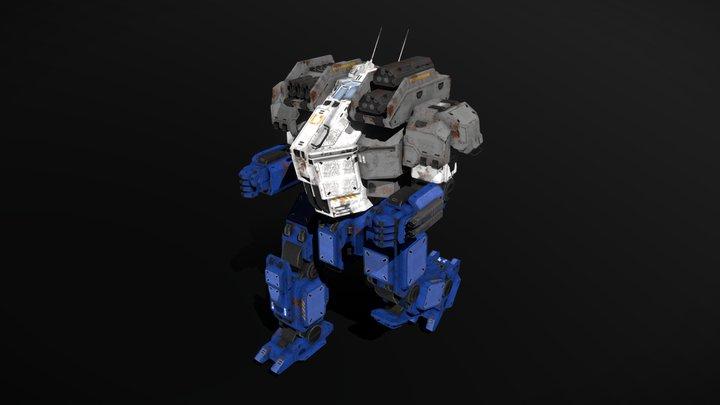 Medium Mech Striker 3D Model