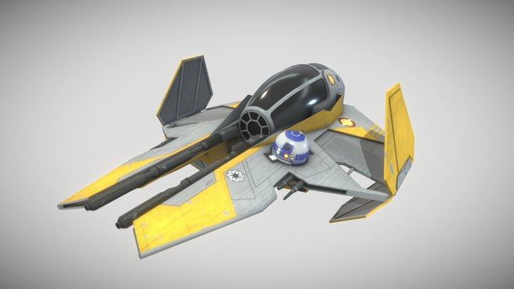 Anakin's Jedi Starfighter - Star Wars 3D Model