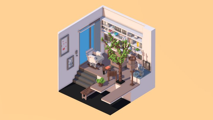 Room 04 /  MagicaVoxel 3D Model