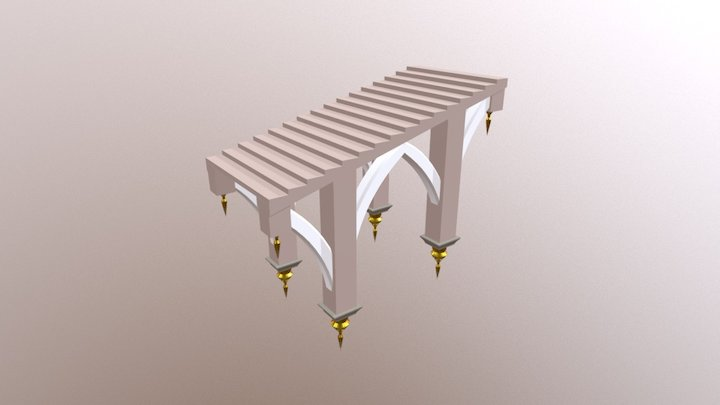 Floating stairs 3D Model