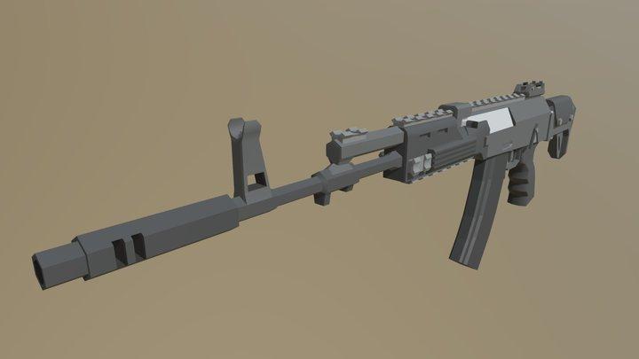 Low Poly AK-12 3D Model