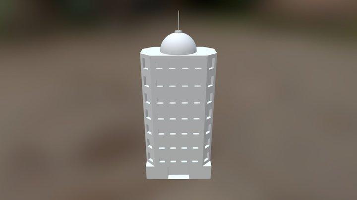 Pokemon Tower (Untextured) 3D Model