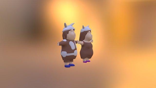 boy&girl_varvar 3D Model