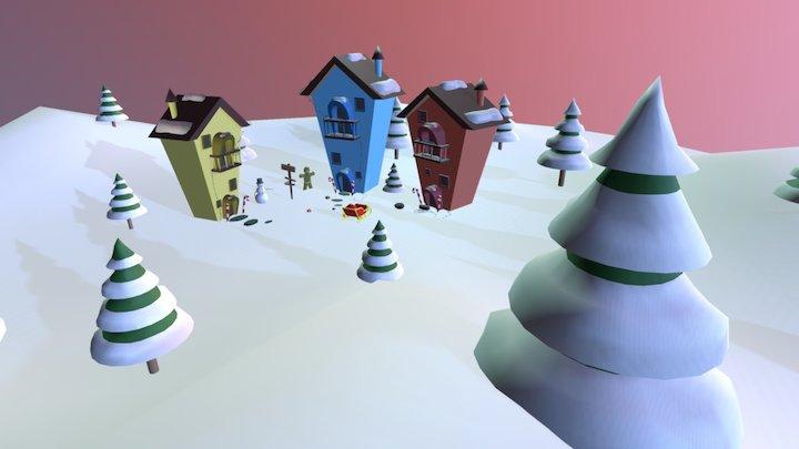 Snow Town 3D Model