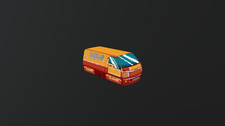 Low-Fi Delivery Van 3D Model