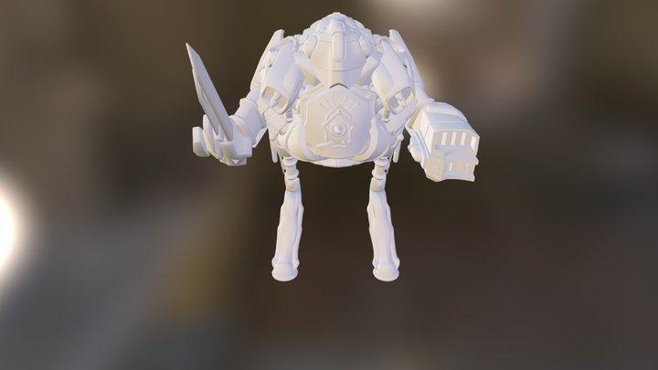 Chicken Mech.dae 3D Model