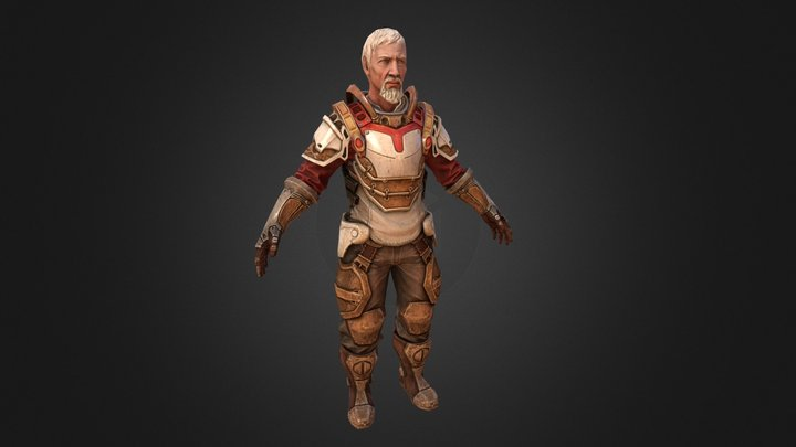 Village Chief 3D Model