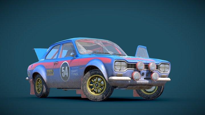 Rally Sedan 3D Model