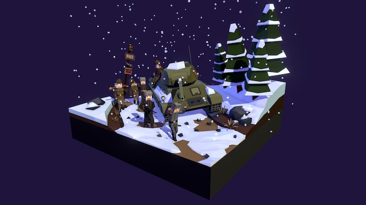 Sovietic Diorama 3D Model