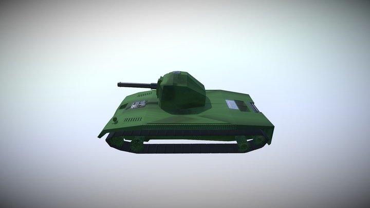 Tank AT1 3D Model