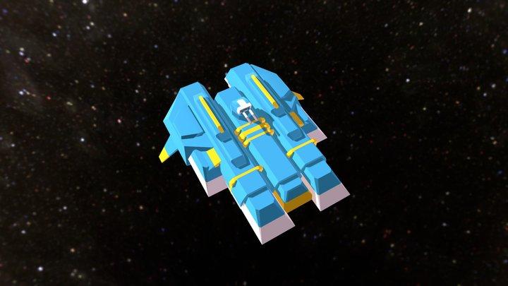 Low-poly Hiigaran-ish Gunship 3D Model