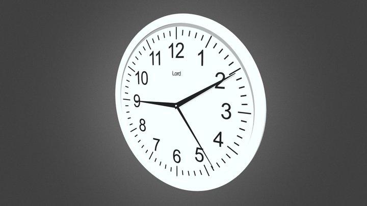 Wall clock - (Настенные часы) 3D Model