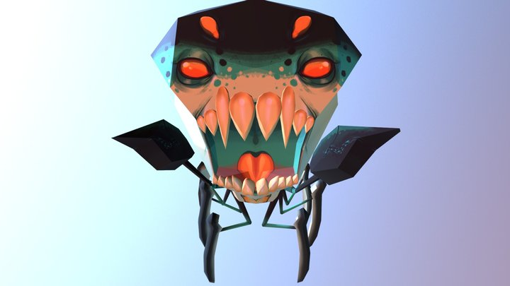 Crawler Attack 3D Model