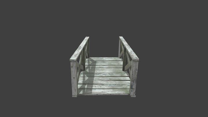 Old wood bridge 3D Model