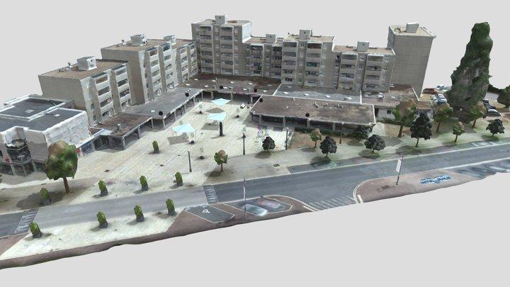 Fontaine sèche sur la place Varennes Vauzelles 3D Model