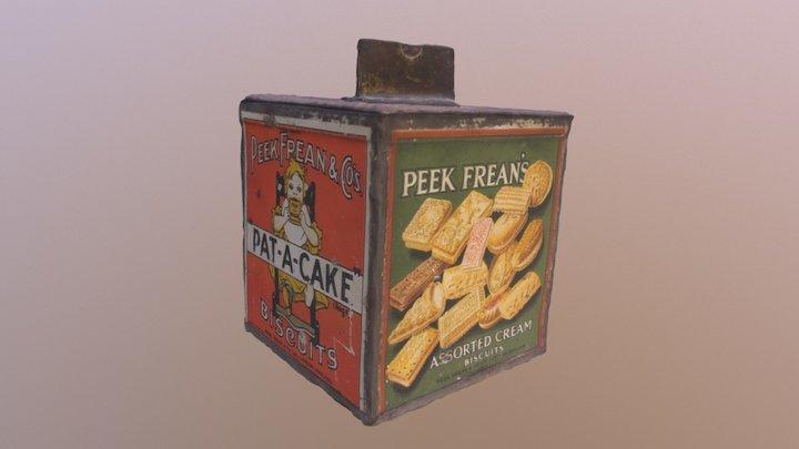 Peek Frean's Biscuit Tin 3D Model