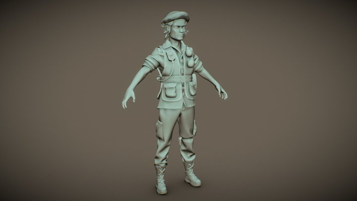 Male Mercenary 3D Model