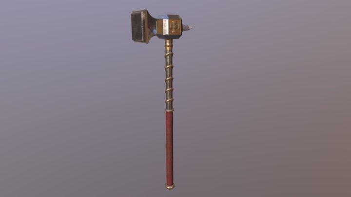 Warhammer Fantasy - Two Handed War Hammer Asset 3D Model