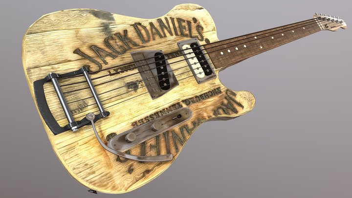 Jack Daniel's Telecaster 3D Model