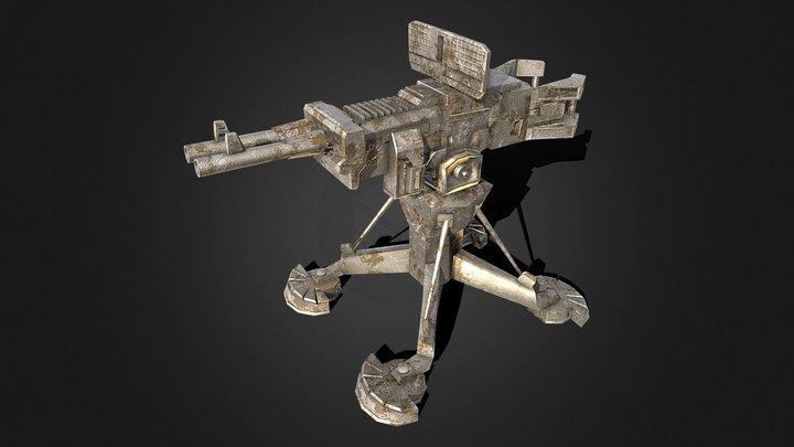 Fixed Machine Gun (Turret) 3D Model
