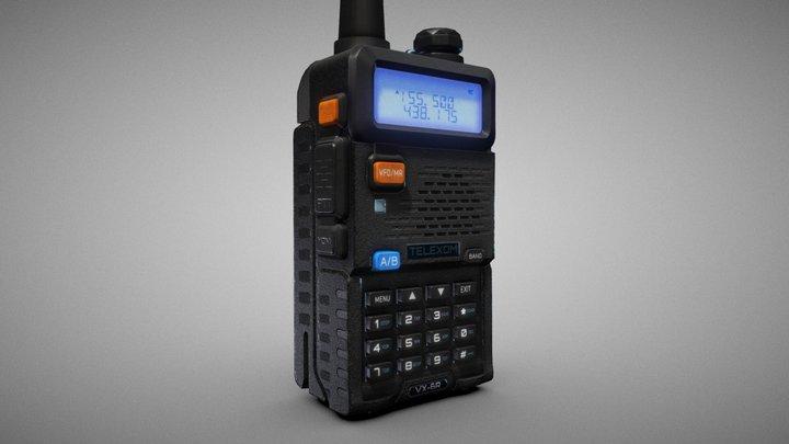 Handheld Portable Radio – Walkie Talkie 3D Model
