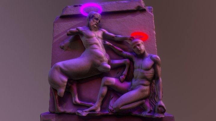 Centaur tramples a falling lapith 3D Model