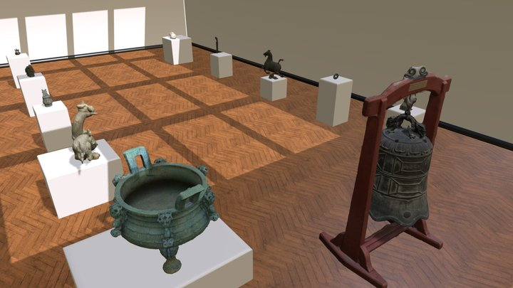 Chinese bronze museum by Chaofan 3D Model